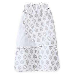 HALO® SleepSack® Tree Muslin Multi-Way Swaddle in Grey/White