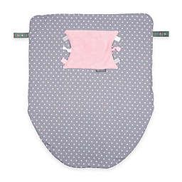 Cheeky Chompers Stroller Blanket in Polka Dot Pink