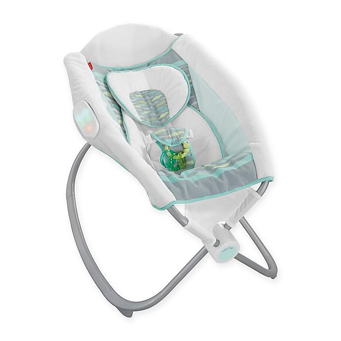 Fisher Price Deluxe Newborn Auto Rock N Play Sleeper In Soothing River Buybuy Baby