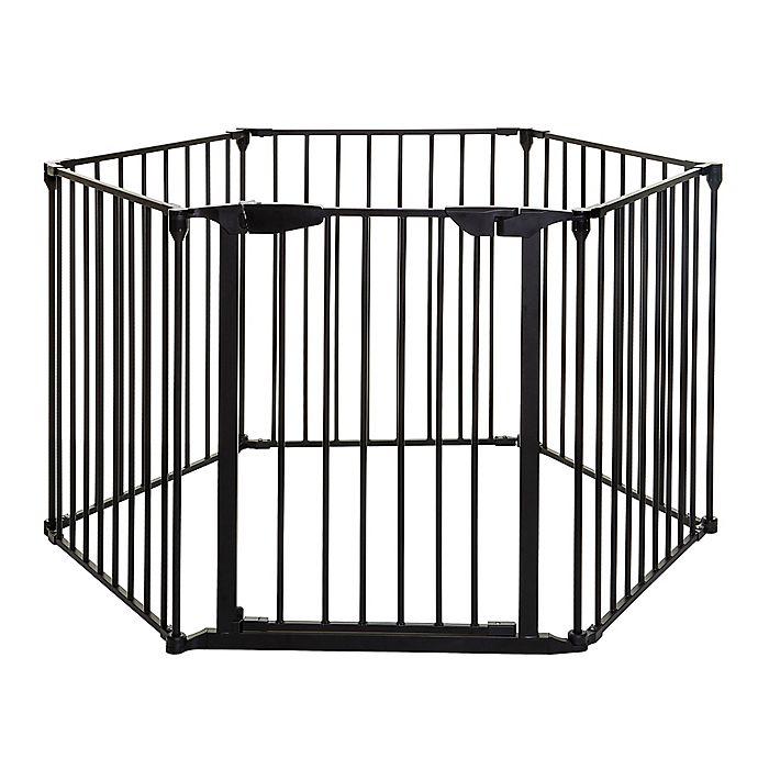 Alternate image 1 for Dreambaby Mayfair Coverta 3-in-1 Playpen Gate in Black