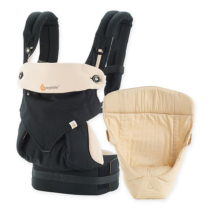 Alternate image 1 for Ergobaby™ 2016 Four-Position 360 Carrier Bundle of Joy Baby Carrier in Black/Camel