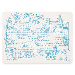 Modern Twist Treasure Map Doodle Placemat in White/Blue