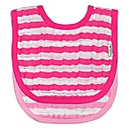 green sprouts® 2-Pack Muslin Stripe Bibs in Pink