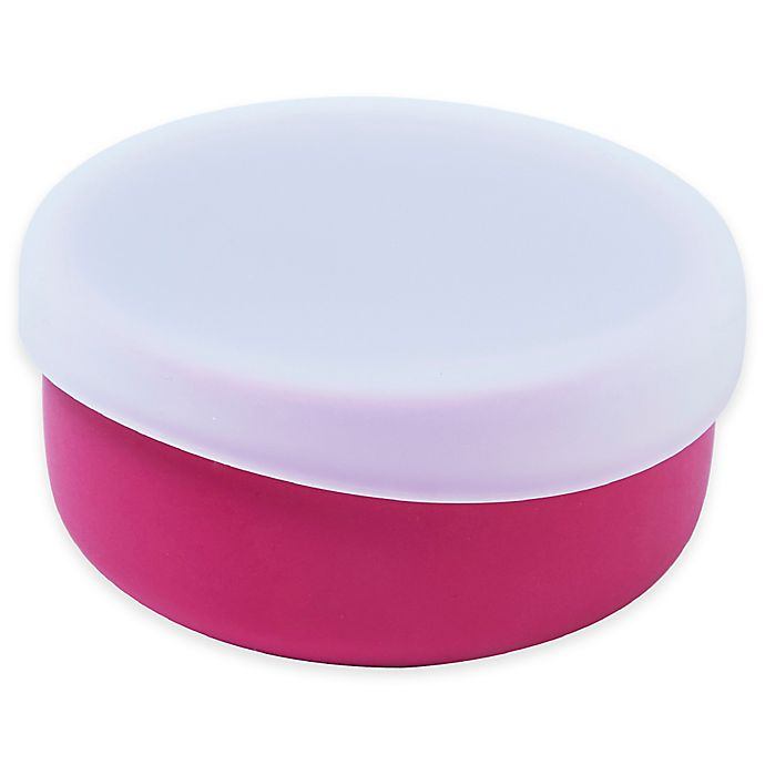 Alternate image 1 for Modern Twist  4.85 oz. Silicone Bowl with Lid in Pink
