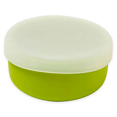 Modern Twist 4.85 oz. Silicone Bowl with Lid in Green