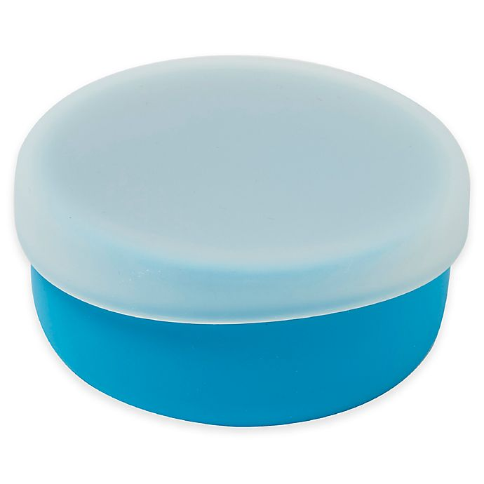 Alternate image 1 for Modern Twist 4.85 oz. Silicone Bowl with Lid in Blue