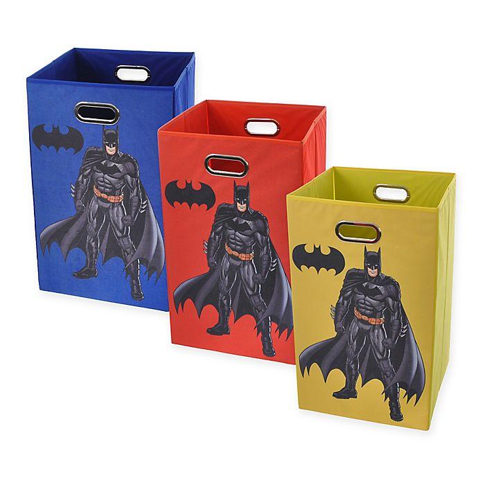 Alternate image 1 for Modern Littles Batman Graphic Folding Laundry Basket