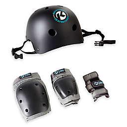 Kryptonics Youth 4-in-1 Pad and Helmet Set in Black