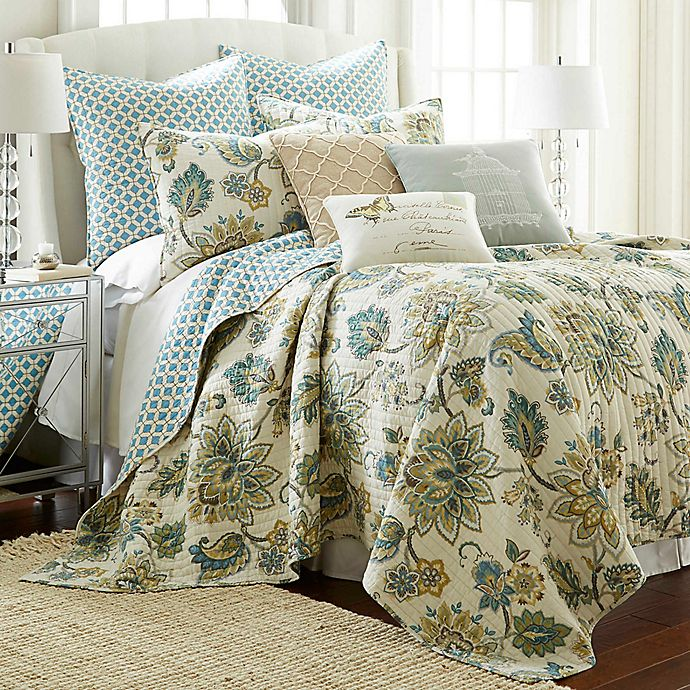 Alternate image 1 for Levtex Home Victoria Reversible King Quilt Set in Grey