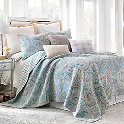 Levtex Home Avery 3-Piece Reversible King Quilt Set in Blue