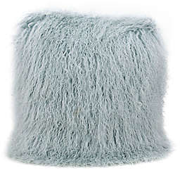 Mina Victory Couture Fur 20-Inch Square Throw Pillow