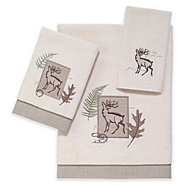 Avanti Deer Lodge Fingertip Towel in Ivory