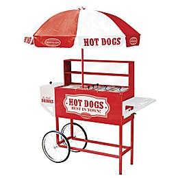 Nostalgia™ Electrics Large Hot Dog Cart with Umbrella