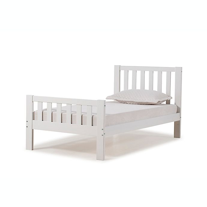 Alternate image 1 for Aurora Twin Wood Platform Bed in White
