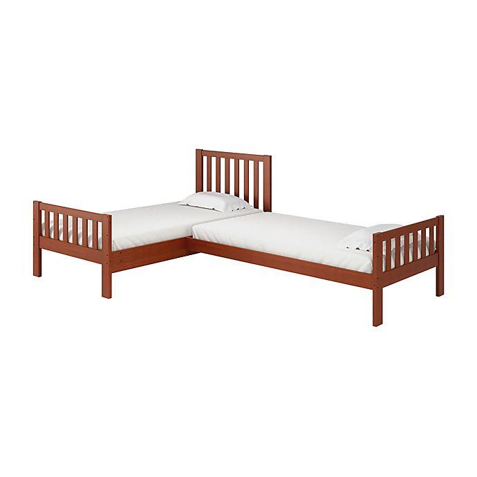 Alternate image 1 for Aurora L-Shaped Corner Twin Bunk Bed