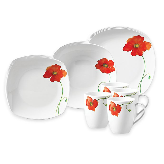 Tabletops Gallery® Poppy Dinnerware Collection   Bed Bath & Beyond