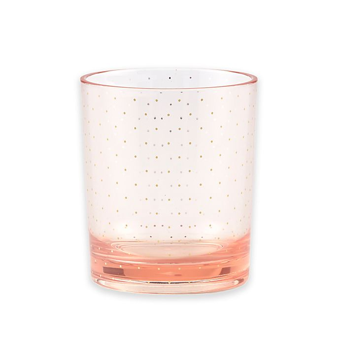 Alternate image 1 for kate spade new york Patio Floral Double Old Fashion Glasses in Blush (Set of 2)