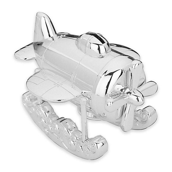 Alternate image 1 for Reed & Barton® Zoom Zoom Airplane Coin Bank
