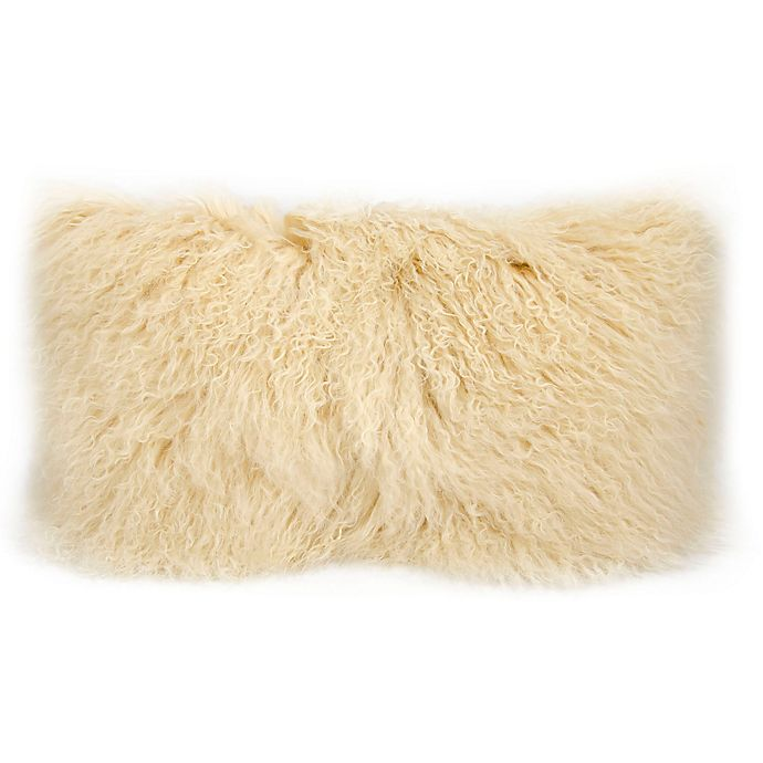 Alternate image 1 for Mina Victory Tibetan Sheepskin Rectangle Throw Pillow
