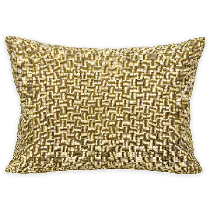 Alternate image 1 for Mina Victory Couture Luster Oblong Throw Pillow