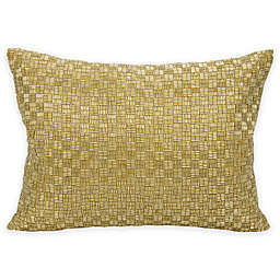 Mina Victory Couture Luster Oblong Throw Pillow