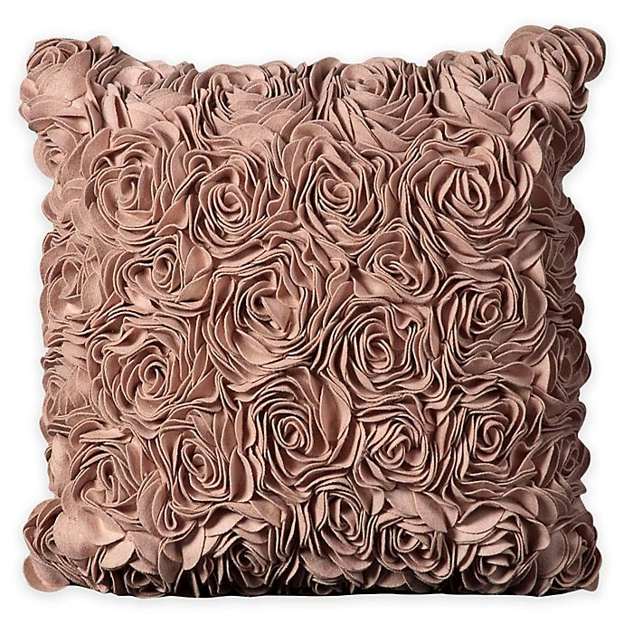 Alternate image 1 for Mina Victory Felt Roses Square Throw Pillow