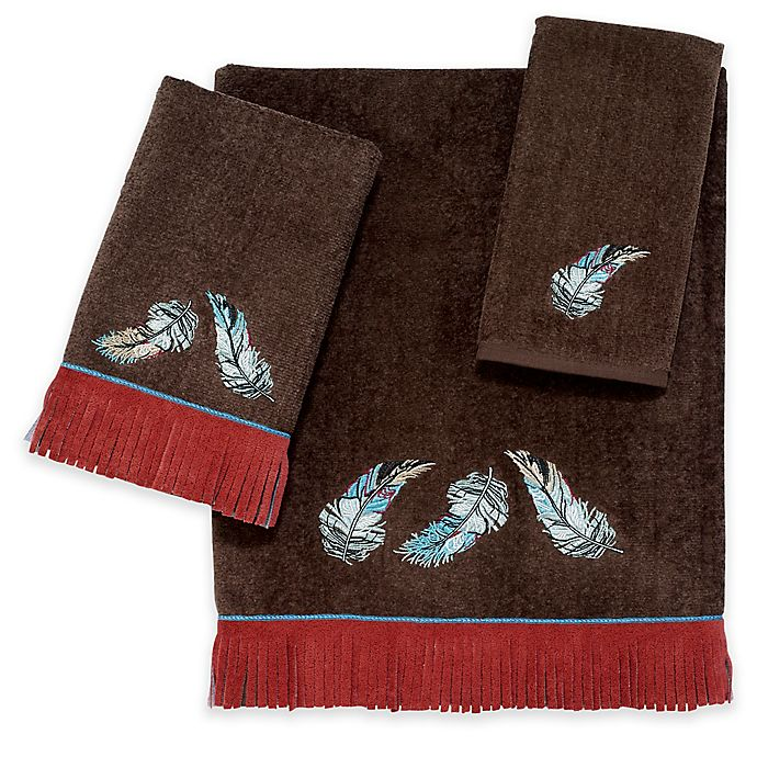 Bath Towel Sets Feather: Avanti Feather Mocha Bath Towel Collection