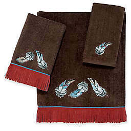 Avanti Feather Mocha Fingertip Towel in Brown