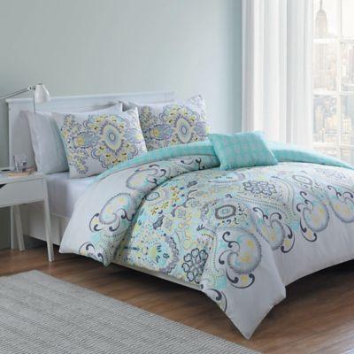 Vcny Amherst 4 Piece Reversible Comforter Set Bed Bath