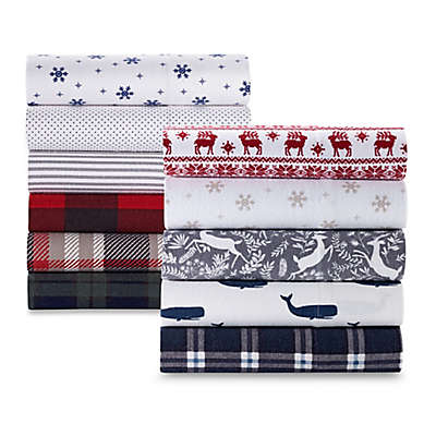 The Seasons Collection® Heavyweight Flannel Pattern Sheet Set
