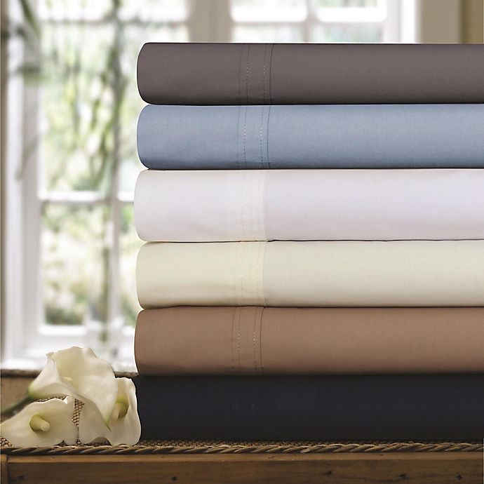 Alternate image 1 for 300-Thread-Count Premium Cotton Percale Sheet Set