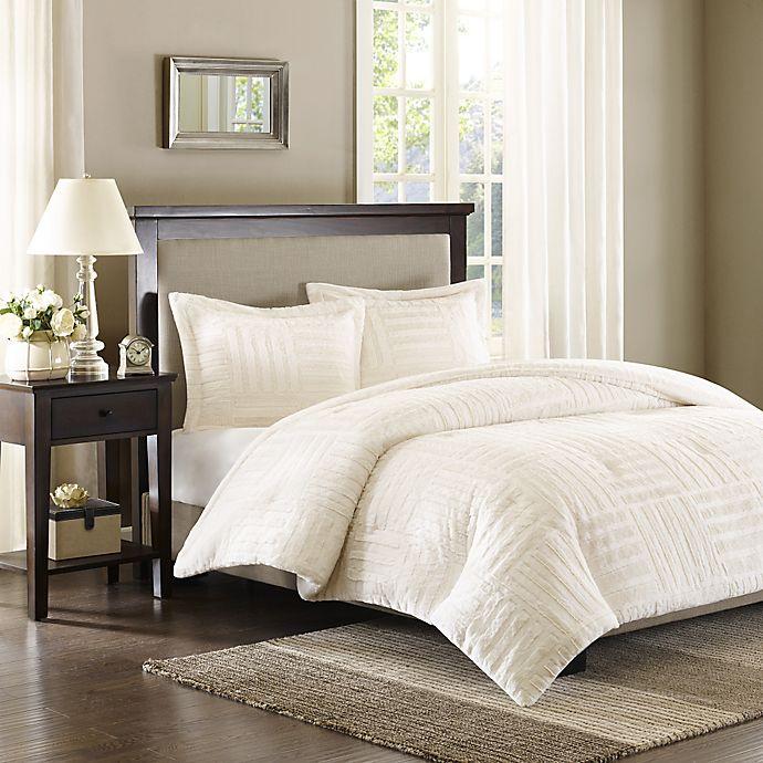 Alternate image 1 for Madison Park Artic Full/Queen Fur Down Alternative Comforter Mini Set in Ivory