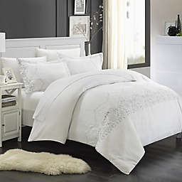 Chic Home Saunder 7-Piece Duvet Cover Set in White