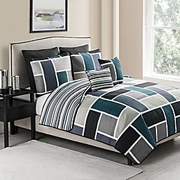 VCNY Morgan 7-Piece Reversible Quilt Set in Blue