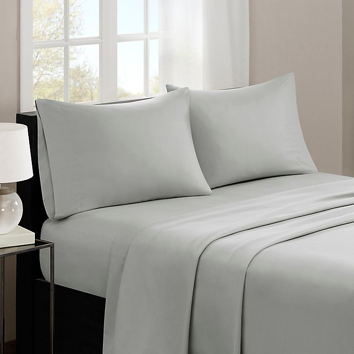 Alternate image 1 for Madison Park 3M Microcell Sheet Set in Grey
