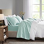 Madison Park 3M Microcell Queen Sheet Set in Seafoam