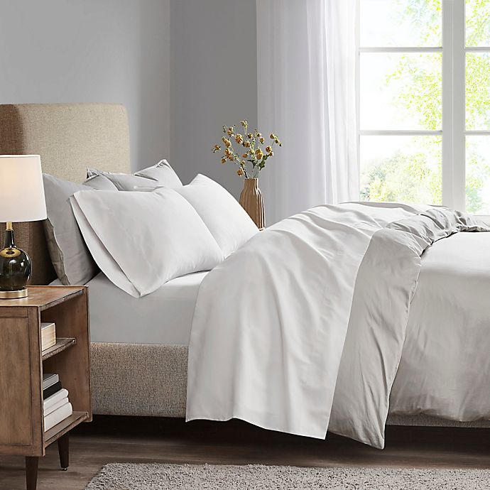 Alternate image 1 for Madison Park 3M Microcell Twin Sheet Set in White