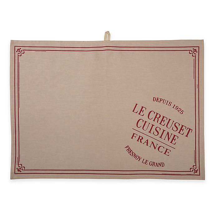 Alternate image 1 for Le Creuset® Heritage Linen Tea Towel in Cherry