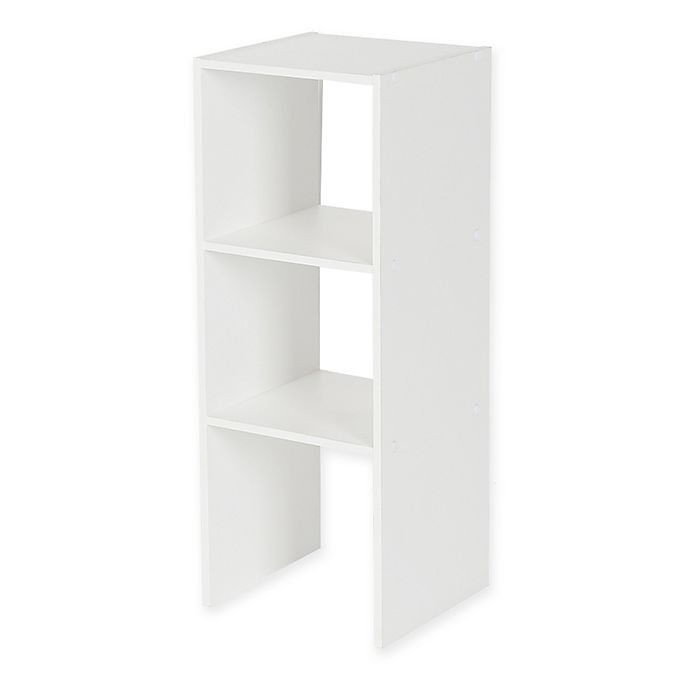 Alternate image 1 for Stackable 31-Inch Vertical 3-Shelf Organizer in White