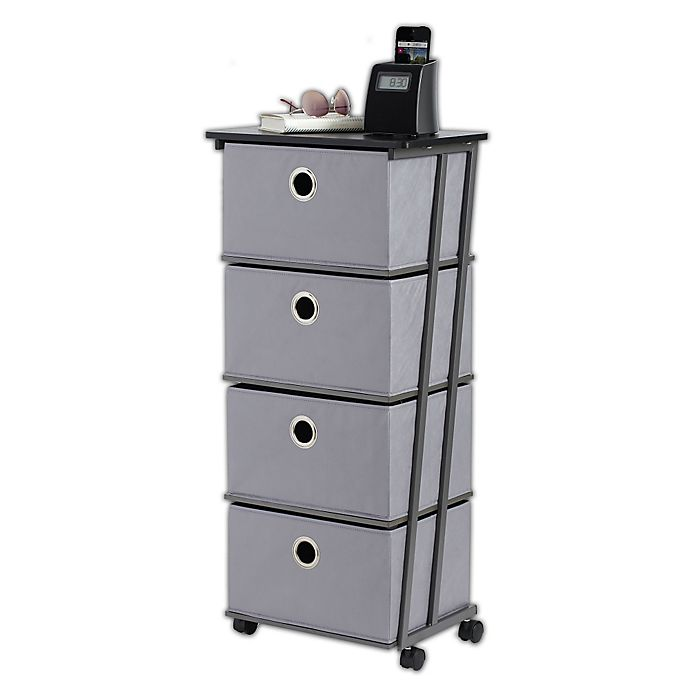 Alternate image 1 for Studio 3B™ 4-Drawer Storage Cart in Grey