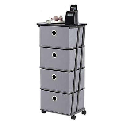 Studio 3B™ 4-Drawer Storage Cart in Grey