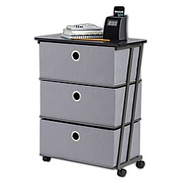 Studio 3B™ 3-Drawer Wide Storage Cart in Grey