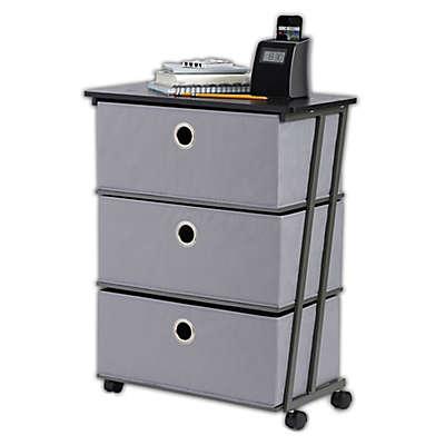 Studio 3B™ 3-Drawer Wide Storage Cart in Grey
