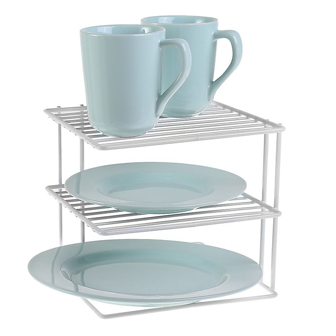 Alternate image 1 for SALT™ 2-Tier Corner Shelf in White