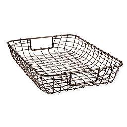 Cabo Metal Letter Basket in Natural