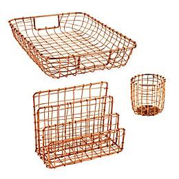 Cabo Metal Desktop Organizer Collection in Copper