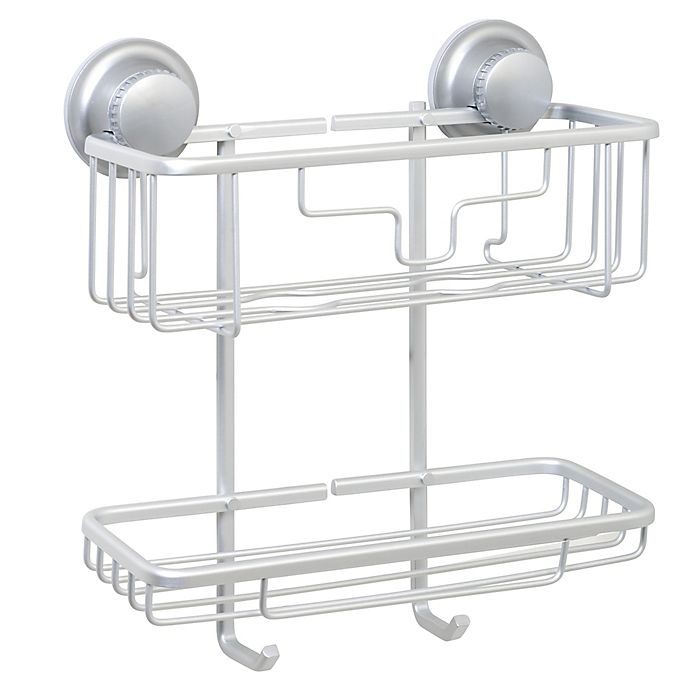 Alternate image 1 for TITAN® Power Grip® NeverRust® Suction 2-Tier Shower Basket