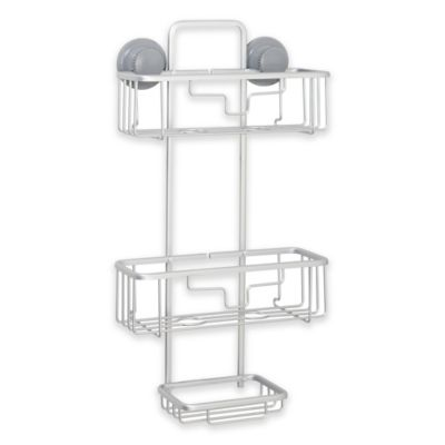 An Grip Neverrust Suction Two Tier Shower Caddy Bed