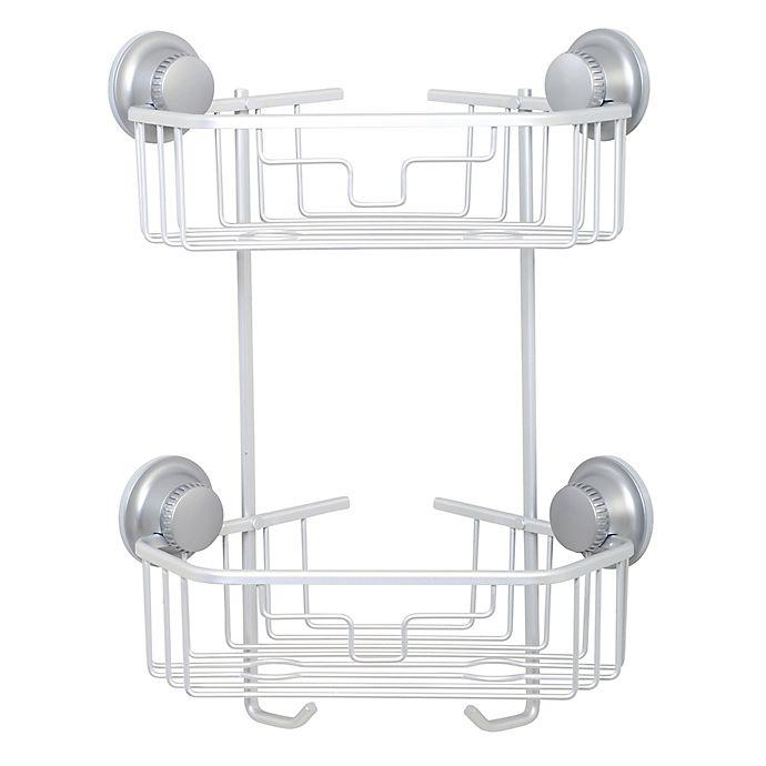 TITAN® PowerGrip™ NeverRust® Suction Two-Tier Corner Shower