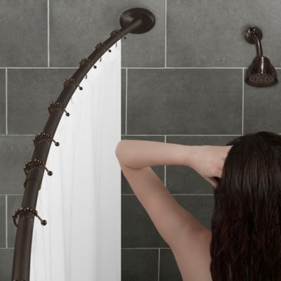Alumia™ Single Curved Shower Rod | Bed Bath & Beyond
